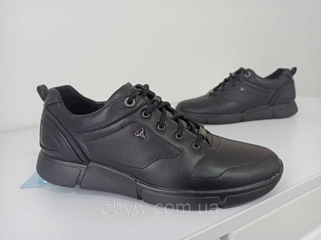 Шкіряні чоловічі кросівки ayk4045 натуральна шкіра
