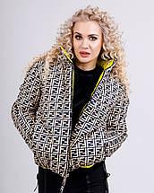 Коротка двостороння куртка в модний принт 42-48 р, фото 3