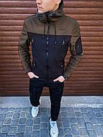 Мужская куртка Korol' Lev Pobedov (вставка хаки) S, 46