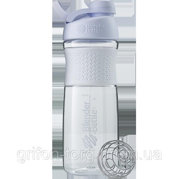 Спортивна пляшка-шейкер BlenderBottle SportMixer Twist 820ml White (ORIGINAL)