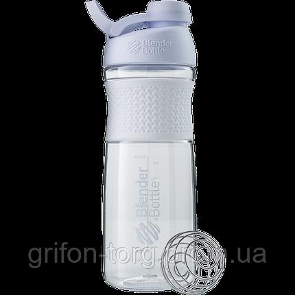 Спортивна пляшка-шейкер BlenderBottle SportMixer Twist 820ml White (ORIGINAL), фото 2