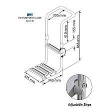 Сходи-платформа для надувного човна Inox 316 Lalizas, Італія 29181