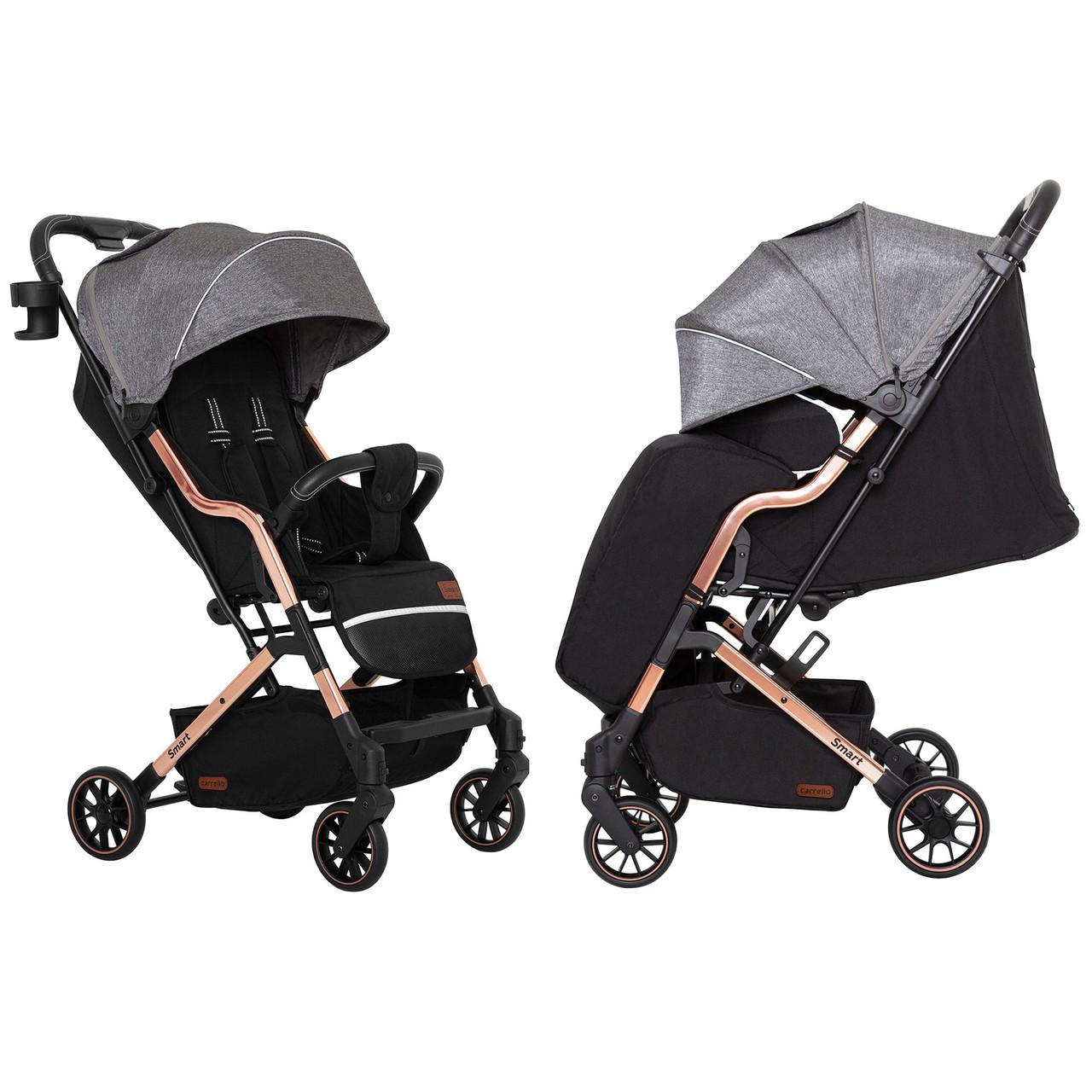 Детская коляска прогулочная CARRELLO Smart CRL-5504 City Grey + дождевик