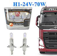 Автомобильные Лампы цоколь H1 24V Вольт 70W Ватт P43T. Лампы с эффектом ксенона Cool Blue Intense + 100%
