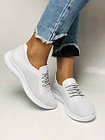 Турецкая обувь. Женские белые кеды-кроссовки с перфорацией из натуральной кожи. Размер 36,37,38,39, фото 2