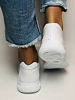 Турецкая обувь. Женские белые кеды-кроссовки с перфорацией из натуральной кожи. Размер 36,37,38,39, фото 8