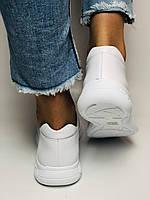 Жіночі білі кеди кросівки з перфорацією з натуральної шкіри 36-40. Супер комфорт, фото 8