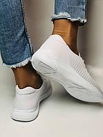 Турецкая обувь. Женские белые кеды-кроссовки с перфорацией из натуральной кожи. Размер 36,37,38,39, фото 9