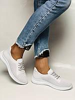 Турецкая обувь. Женские белые кеды-кроссовки с перфорацией из натуральной кожи. Размер 36,37,38,39, фото 10