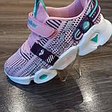 Кроссовки розовые . Стильные модные кроссовки., фото 6
