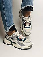 Стильні жіночі кеди-кросівки білі з перфорацією.Туреччина.Натуральна шкіра. 36-39 Vellena, фото 2