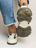 Стильні жіночі кеди-кросівки білі з перфорацією.Туреччина.Натуральна шкіра. 36-39 Vellena, фото 7