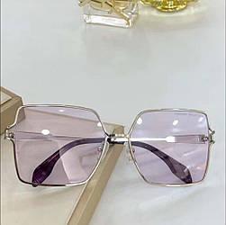 Сонцезахисні окуляри прозорі рожеві скла Alexander McQueen у футлярі AM0219SA