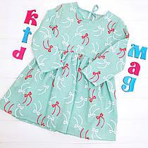 """Детское платье хлопковое """"Бантики"""" на 90 см, 100 см, 120 см"""