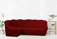 Жаккардовый чехол на угловой диван Турецкое качество