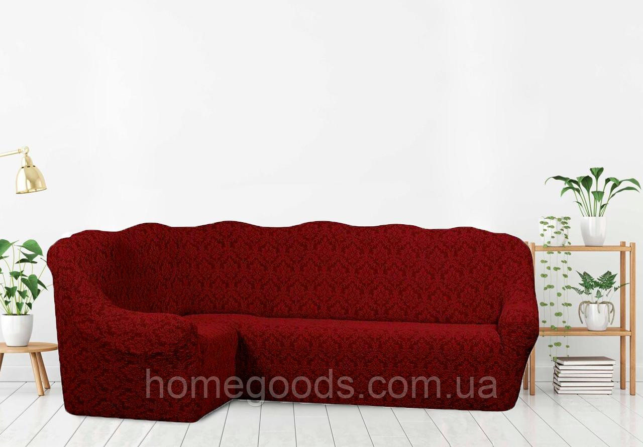 Чехол на угловой диван С КРЕСЛОМ из плотной ткани