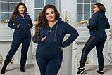 Женский спортивный костюм кофта батник и штаны двухнить размер:48-50, 52-54,56-58, 60-62, фото 4