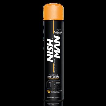 Спрей для фиксации волос Nishman Ultra Strong #05 400мл