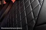 Чехлы салона Renault Duster 2015- (сплошн. 5 подгол.) Эко-кожа, Ромб /черные 90002, фото 4