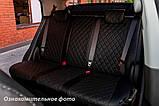 Чехлы салона Renault Duster 2015- (сплошн. 5 подгол.) Эко-кожа, Ромб /черные 90002, фото 5