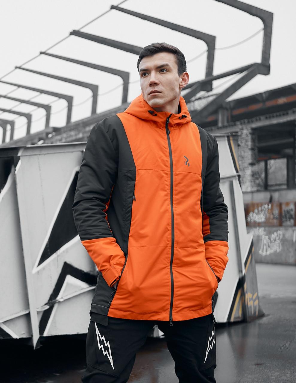 Куртка демисезонная мужская Пушка Огонь Horn оранжевая
