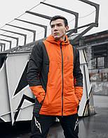 Куртка демисезонная мужская Пушка Огонь Horn оранжевая, фото 1