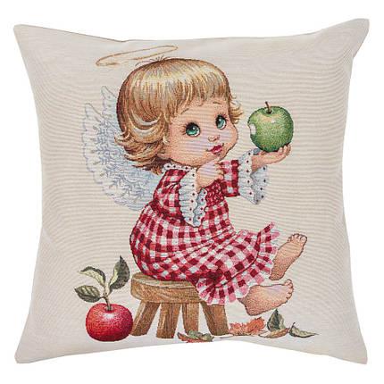 Наволочка гобеленовая декоративная односторонняя Limaso Ангел ангелок 45х45 см на декоративную подушку, фото 2