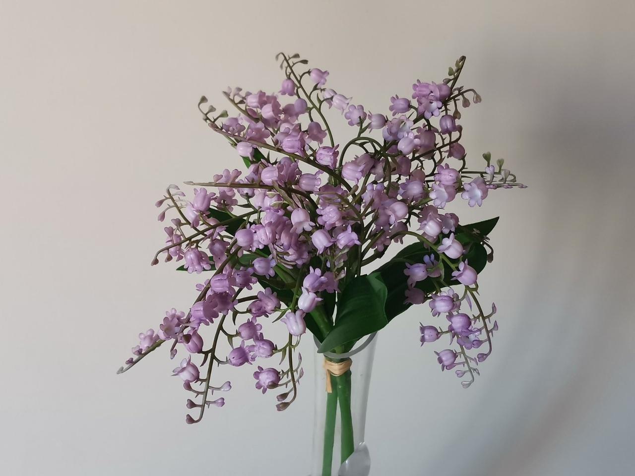 Искусственные цветы. Букет ландышей, нежно-фиолетовый.