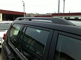 Рейлинги Тойота Land Cruiser Prado 150 (2009-) Черные усиленные (63401-60020), фото 4