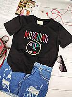 Стильная женская футболка Moschino Москино
