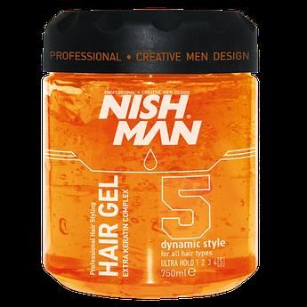 Гель для укладки волос Nishman Ultra Hold №5 (750 Мл)