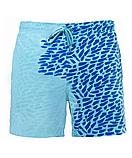 Шорти хамелеон для плавання, пляжні чоловічі спортивні шорти змінюють колір жовто-оранжеві Код 26-0055, фото 5