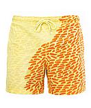 Шорти хамелеон для плавання, пляжні чоловічі спортивні шорти змінюють колір жовто-оранжеві Код 26-0055, фото 6