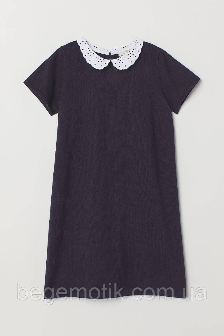 H&M Платье тонкой вязки Темно-синий  размер 8-10 лет рост 134-140