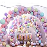 """Набор 100 шт воздушные шары макарун ассорти 10"""" (25 см) для создания арки 1867, фото 6"""