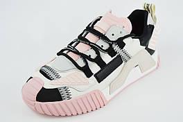 Кроссовки женские V.I.konty 20812 36 Бело-розовые
