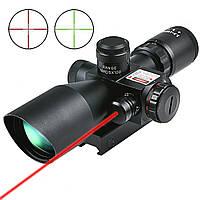 Оптический прицел с переменной кратностью 2,5-10х40 с целеуказателем, подсветка шкалы, фото 1