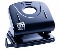 Дырокол Buromax BM.4038, металл Черный, на 30листов 2отверствия 5,5мм, форматная линейка