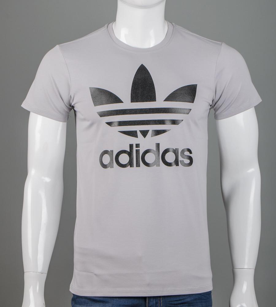 Футболка мужская Adidas (2112м), Св.Серый