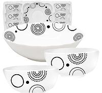 Набор салатников Абстракция содержит 7 предметов стеклокерамика