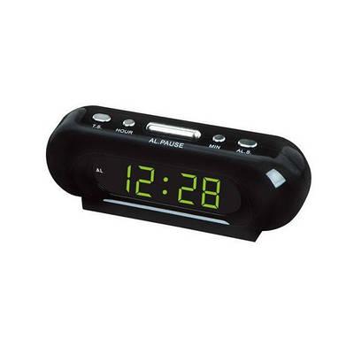 Настольные часы VST 716-2 Green Light от сети Черный
