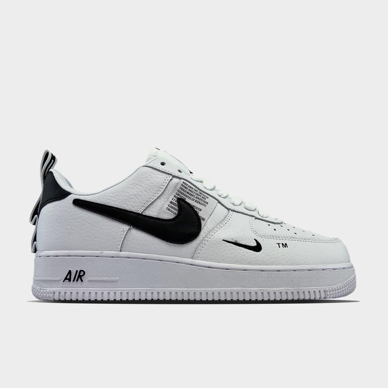 Кроссовки Nike Air Force 1 Utility White мужские, белого цвета, Найк Аир Форс 41