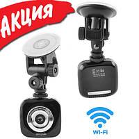 Автомобильный видеорегистратор Full HD Sycloud DVR для авто WiFi IP регистратор в машину с записью 1080