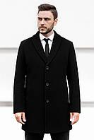 Пальто мужское демисезонное весеннее осеннее Boss черное | Пальто деловое мужское повседневное ЛЮКС качества
