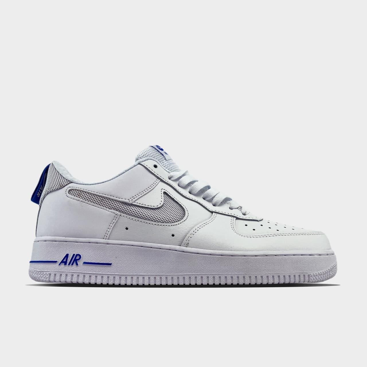 Кроссовки Nike Air Force 1 07 LV8 GS White Blue мужские, белого цвета, Найк Аир Форс 42
