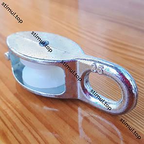 Ø 25 мм ➜ Блочок такелажный нейлоновый ➜ Одинарный подъемный блок для троса ➜ ОПТ, фото 2