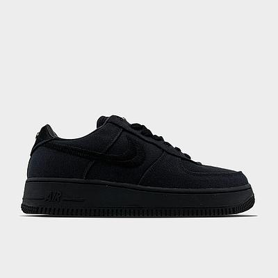 Кроссовки Nike Air Force 1 Low Stussy Black мужские, черного цвета, Найк Аир Форс