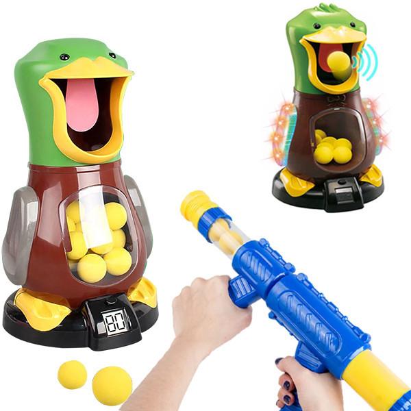 Пістолет з голодною качкою для стрільби Hit Me Duck Max Fun