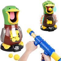 Пістолет з голодною качкою для стрільби Hit Me Duck Max Fun, фото 1