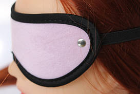 МАСКА НА ГЛАЗА цвет розовый, (текстиль) MLF-90018-6